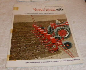 Classic brochure for Massey-Ferguson Tool Bar System dated 1967