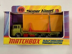 Coche Matchbox Super King K-13 D.A.F. Building Transporte