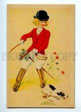 187768 Girl Rider on Horse Toy Jack Russell Terrier Vintage Pc