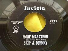 Rare Kim Fowley 60s Rock 45 : Skip & Johnny ~ The Marathon ~ Invicta 1000