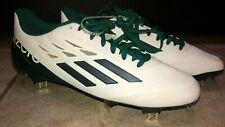 Mens Adidas Adizero Aflerburner Baseball Cleats Green White D74237 Sz 8.5 New