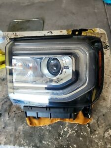 16 17 18 GMC SIERRA 1500 SLE HID XENON LED LEFT DRIVER HEADLIGHT OEM