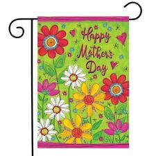 "Mother's Day Floral Garden Flag Holiday Daisies 12.5"" x 18"" Briarwood Lane"