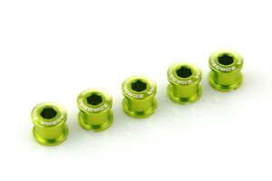 [US Seller] New Bicycle Crankset Double Chainring Bolts for Shimano Campy Green