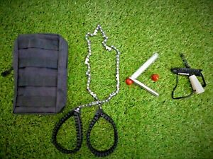 Cardinal Outdoor Bundle Pocket Chainsaw, Fire Straw, Fire Striker In Tough Pouch