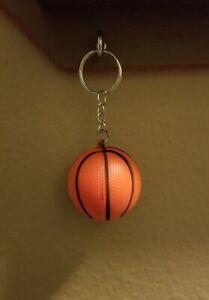 Orange Foam Ring Key Chain Basketball  NEW
