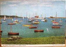 Irish Postcard Harbour at DUN LAOGHAIRE Sailboats Dublin Ireland Hinde 2/82 1971