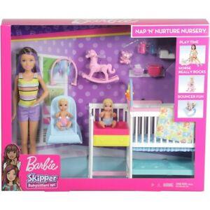 Barbie Skipper Babysitters INC - Nap 'n Nurture Nursery Set. Brand New NRFB.