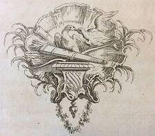 Jacques-François Blondel (1705-1774) Architecte Ornemaniste XVIII Molière oiseau