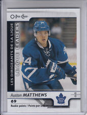 17/18 OPC Toronto Maple Leafs Auston Matthews League Leaders card #598