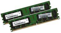 2x 2GB 4GB Dual Channel PC / Desktop RAM Speicher DDR2 667 Mhz DIMM PC2-5300