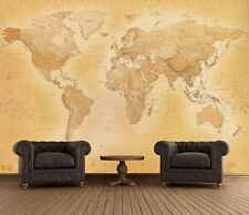Wall mural giant size Old style world map photo wallpaper for office living room