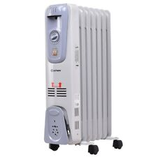 Home Classic 1500W 7-Fin Electric Oil Filled Space Thermostat Heater Machine US