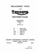 1954 Triumph pre-unit models parts catalogue