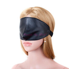 PU Leather Half Face Mask Hood Roleplay Eye Mask Blindfold Suffocation Slave Toy