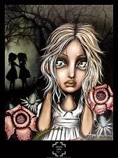 FINE ART PRINT POSTER - Pssst... by Angelina Wrona 30x24 Girl Horror Fantasy