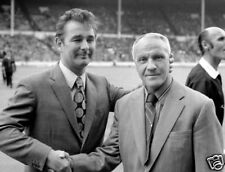 Brian Clough Shakes Bill Shankly Hand 10x8 Photo