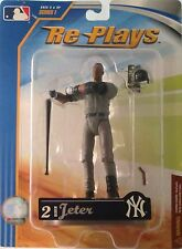 "DEREK JETER Re-Plays 4"" Figure with Road Jersey 2007 Series 1 Gracelyn Toys-NEW!"