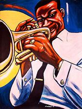 CLIFFORD BROWN PRINT poster jazz trumpet daahoud study in brown cd blue note art