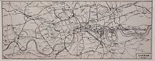 Antique map, London