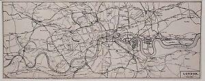 Antique map, London