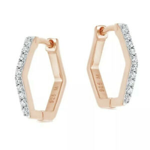 BNWT MISSOMA PAVE HEX HUGGIES ROSE GOLD RRP £70