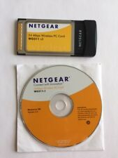 Genuine Netgear 54 Mbps Wireless Pc Card Wg511 v2 w/ resource Cd version 3.2