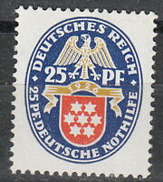 Stamp Germany Reich Mi 400 Sc B17 1926 Charity Coats of Arms Thuringia Empire MH