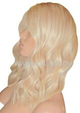 "Remy Human Hair Wig Glueless Monofilament Mono Top 14"" Long Light Blonde Moklox"
