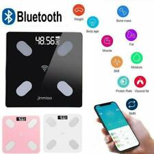 Smart Body Fat Floor Scale Lcd Digital Weight Monitor Analyzer Health S2F9