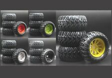 1/10 Rc Monster Truck Wheels & Tires Set for Losi Tenacity Mt Ten Ecx Ruckus