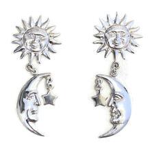 NEW Sterling Silver Earrings Sun Moon & Stars Studs Dangle 925