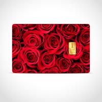 Gold Geschenkkarte / Geschenkidee / 1 Gr. Barren / Hochzeitstag, Liebe, Rose