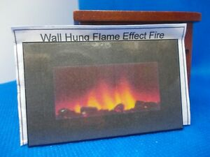 NON WORKING  FLAME EFFECT HANG ON THE WALL FIRE FOR A DOLLS HOUSE