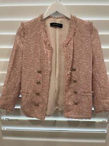 Zara pink tweed Jacket. Size S.