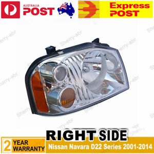 For Nissan Navara D22 Series UTE 2001-2014 RH Right Side HeadLight lamp New