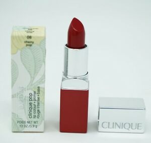 Clinique Pop Lip Colour Lipstick 0.1oz/08 Cherry Pop2 Bare Pop