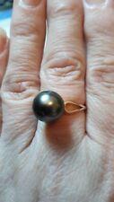 Americano Perla cultivada, talla n a o 9k oro