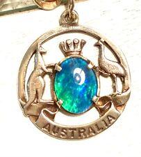 9K YELLOW GOLD VINTAGE CHARM ESTATE ITEM AUSTRALIA WITH OPAL KANGAROO GORGEOUS!