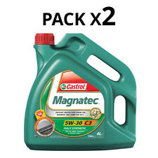 Castrol Magnatec 8L Engine Oil 2x 4 Litres 5W30 C3 Fully Synthetic GM dexos2