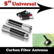 "5"" Stubby Carbon Fiber Aluminum Short Antenna Silver Screws For DODGE Auto Car"