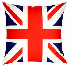 Blue Red British Flag Union Jack Print 17 x 17 Cushion Cover for Sofa Bed Couch