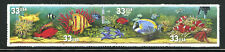 US 3320c, 1999 33c FISH, STRIP OF 4, OVERALL TAGGED, SELF ADHESIVE, MNH  (US348)