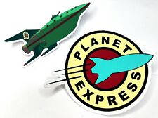 Futurama - Planet Express Logo and Ship 2 Sticker Set