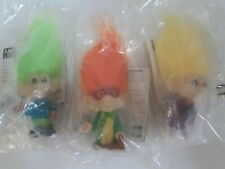 Vintage 1993 Burger King Glow In The Dark Troll Dolls Figurines (3)