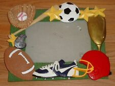 """All SPORTS 3-D Picture Photo Frame for 4"""" x 6"""" photo Football, Baseball, Soccer"""