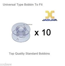 UNIVERSAL PLASTIC BOBBINS X 10 IN PACKET COMPATIBLE WITH JAGUAR SEWING MACHINES