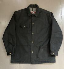 Vintage Ben Davis Blanket Lined Denim Chore Jacket Made In USA Black XL
