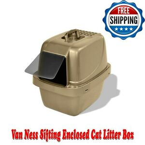 Van Ness Sifting Enclosed Cat Litter Box Large, BPA Free, Odor & Stain Resistant