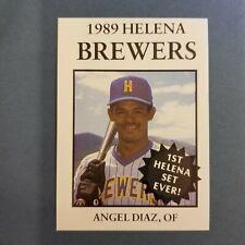 1989 Sports Pro HELENA Brewers #2 ANGEL DIAZ Santo Domingo DOMINICAN REPUBLIC